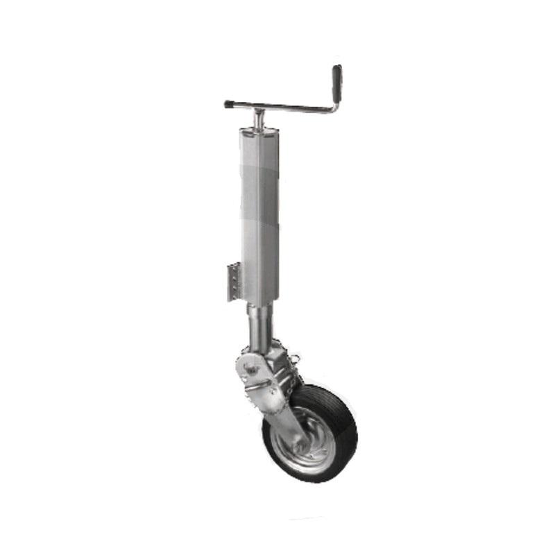 Opěrné kolečko k přívěsu, přívěsnému vozíku nosnost 600 kg trubka 70 mm hranatá