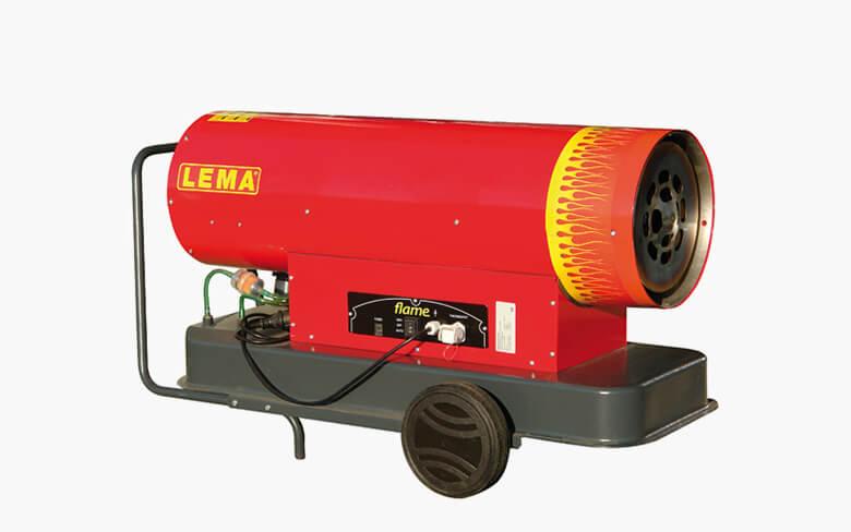 Venkovní naftové topidlo LEMA FLAME 40, mobilní topné dělo s přímým spalováním, 40kW