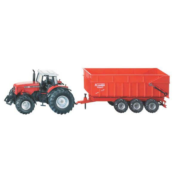 Siku – traktor Massey Ferguson s návěsem 1:87