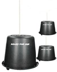Černý kbelík s provázkem pro lep na ovády Sticky Trap balení 3 ks