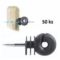 Kruhové izolátory Standard s vrutem 6 mm pro elektrický ohradník balení 50 ks