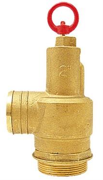 """MZ pojistný ventil pro fekální vozy s hadicovým přípojem 2"""" 1 bar"""