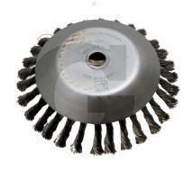 Ocelový copánkový kartáč na plevel vnější průměr 170 mm otvor 25,4 mm ke křovinořezu