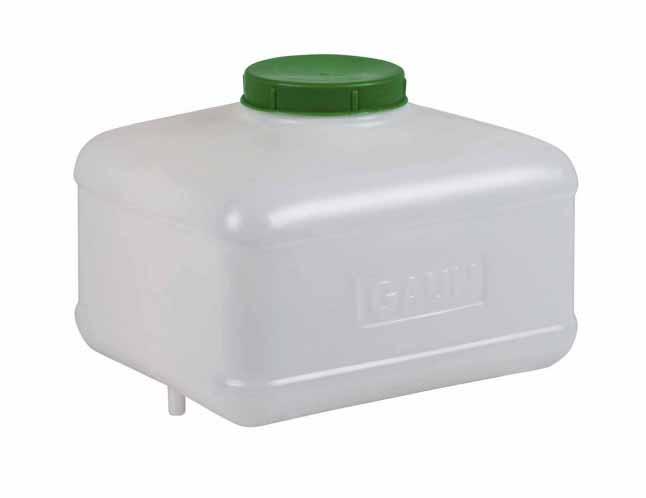Tank hranatý, nádržka na 8 l vody pro hadičkové rozvody s vývodem 9 mm pro napáječky