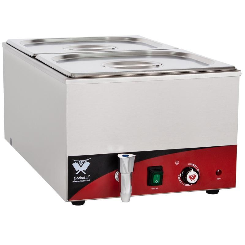 Elektrická vodní lázeň BEEKETAL BBM2 na 2 velké gastro nádoby s termostatem včetně GN