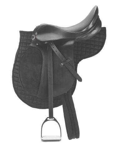 Jezdecké sedlo pro začátečníky velikost Pony - set