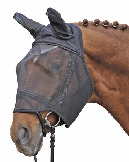 Maska proti hmyzu na koně HKM černá