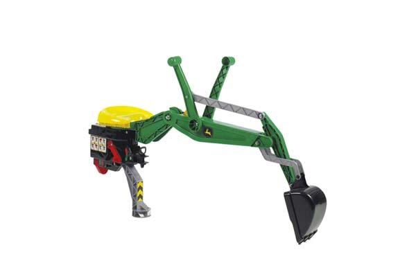 Rolly Toys – bagr John Deere se zámkem zelený