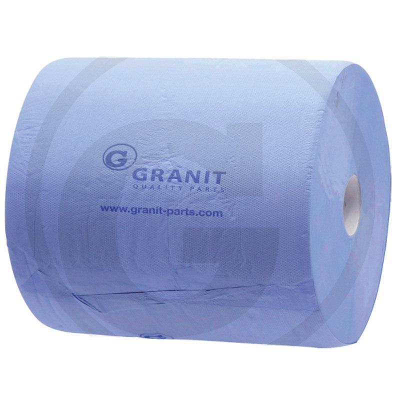 Papírový ručník Granit útržky 220 x 238 mm 2-vrstvý modrý, utírací papírová role 2 ks