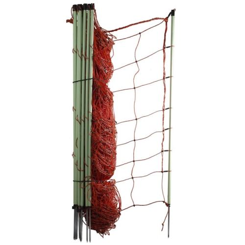 Vodivá ovčí síť Olli 90 cm/50 m s jednoduchým hrotem pro elektrický ohradník