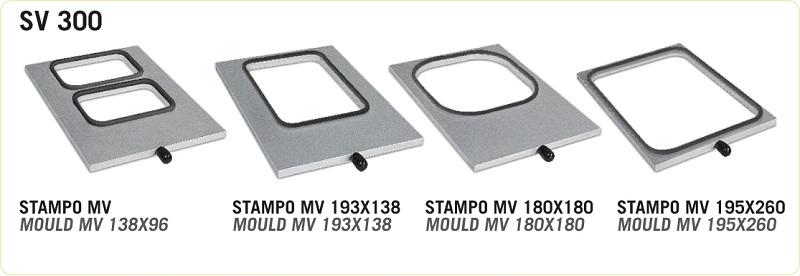 Rámeček na misky, vaničky a gastronádoby MV 180×180 pro zatavovací baličku HORECA SV 300
