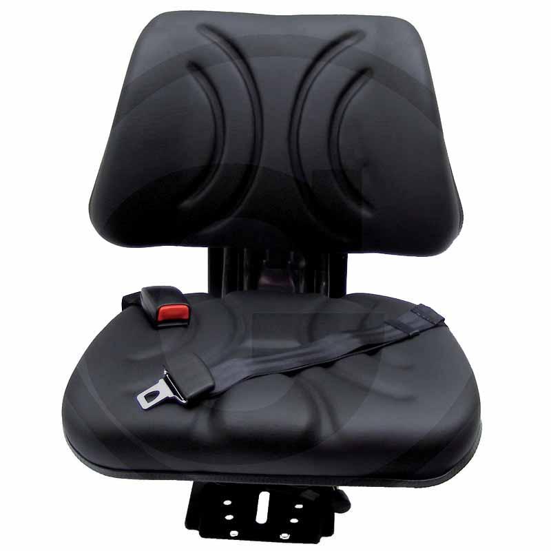 Sedačka Granit mechanicky odpružená včetně statického bezpečnostního pásu do traktoru, VZV