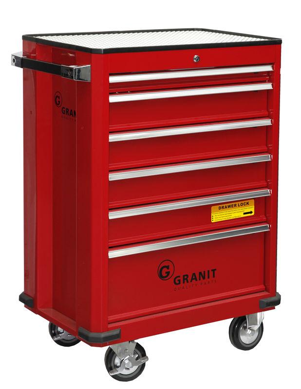 Dílenský vozík na nářadí Granit pojízdný 6 zásuvek prázdný bez nářadí