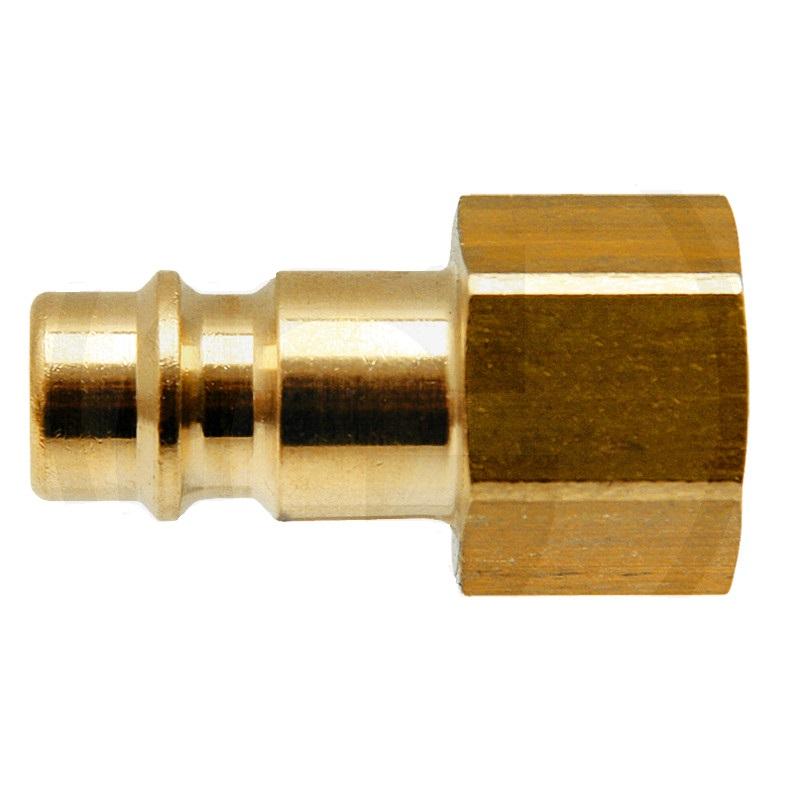 """Mosazné nástrčné hrdlo s G 1/4"""" vnitřním závitem pro pneumatické nářadí"""