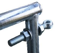 Závitová tyč průměr 22 mm s okem a 2 maticemi pro panelové pastevní brány Cosnet