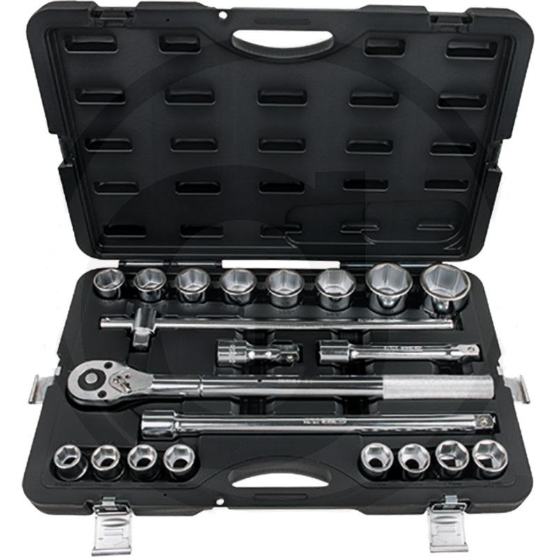 """Sada nástrčných klíčů KS Tools 3/4"""" Classic 21-dílná v plastovém kufříku"""