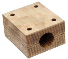 Dřevěné ložisko průměr 38 mm s nylonovým kroužkem pro hřídel vytřásadla John Deere