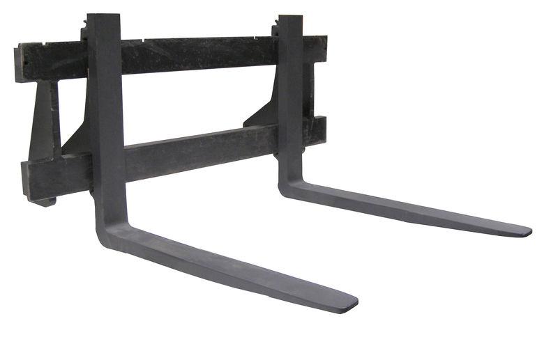 Paletizační vidle ISO/FEM 2, 80 x 40 x 1150 mm, zatížení na pár 900 kg EURO upínání