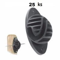 Izolátory ISOLINE  pro přišroubování dvěma vruty, na drát, provázek a lanko pro ohradník