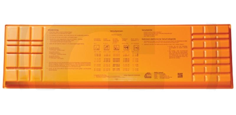Kontrolní miska ztrát zrní s pracovní šířkou 8 – 10 m