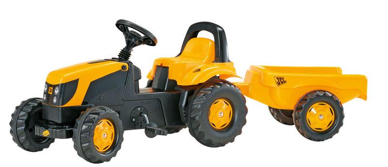 Rolly Toys modelová řada Rolly Kid - šlapací traktor JCB s vozíkem