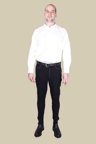 Pánské jezdecké rajtky Venta s koženými koleny černé velikost 52