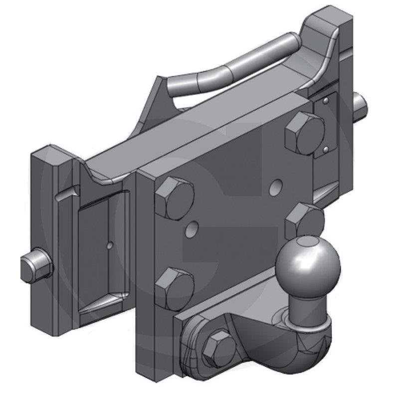 Kulový závěs K50 Scharmüller centrální panel zatížení 250 kg systém Rockinger
