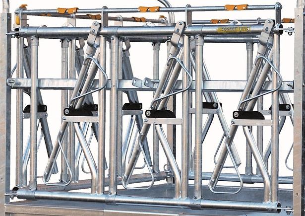 Náhradní panel s krční fixací pro palisádový krmelec Cosnet RTC 2 délka 1,83 m 3 hlavy