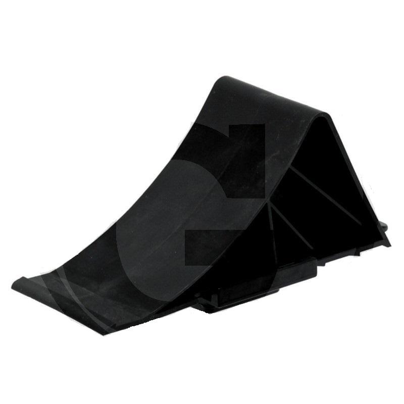 Zakládací klín pod kola plastový černý pro nápravy do 1600 kg s držákem