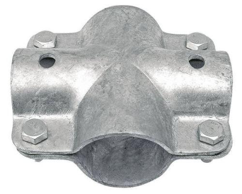 Stájová křížová spona dvojdílná se 4 šrouby průměr 48 mm