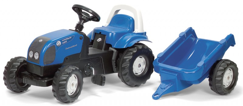 Rolly Toys - šlapací traktor Landini Powerfarm 100 s přívěsem Rolly Kid