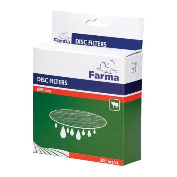 Mléčné filtry kruhové na mléko průměr 240 mm 200 ks FARMA do konví, do sít, gramáž 25 g/m2