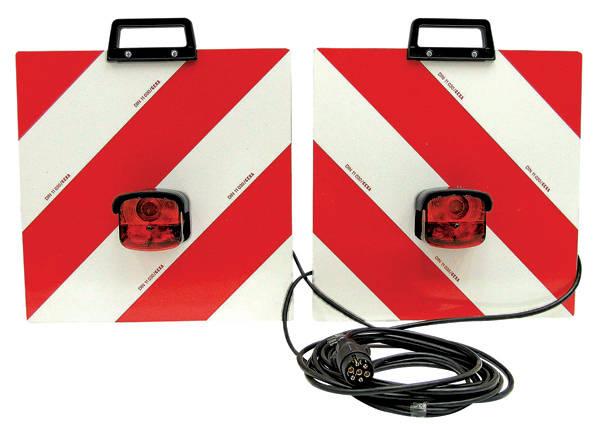 Sada výstražných tabulek kompletně propojená kabely s osvětkením na pevnou montáž