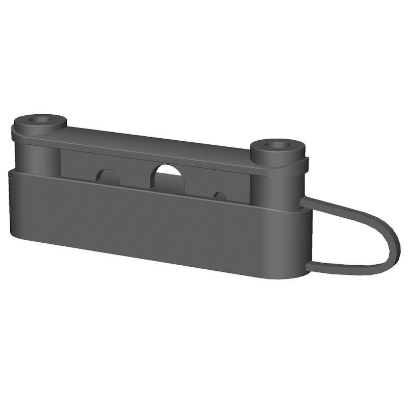 Duo izolátor VN OLLI kombinovaný pro pásky do 40 mm a lanka pro elektrický ohradník 50 ks