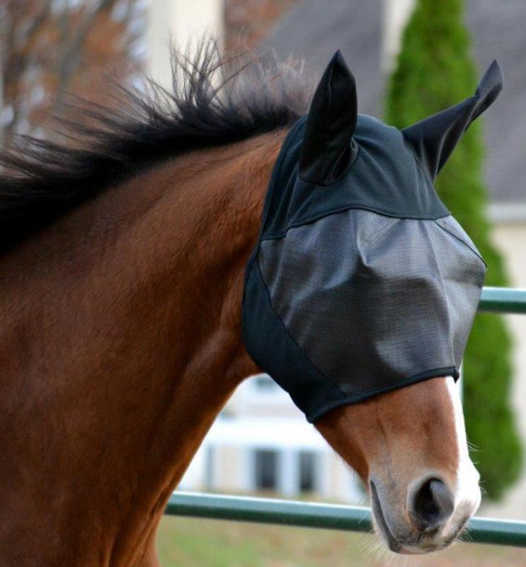 Absorbine Ultrashield EX maska proti hmyzu s ušima 2018 na koně, velikost COB barva černá