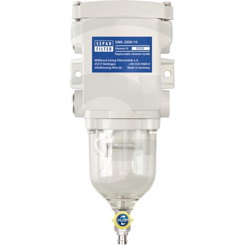Odlučovač vody z paliva SEPAR SWK-2000/10 bez topení k dostavbě