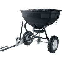 Tažené zahradní rozmetadlo hnojiv GoPart na 56 kg za čtyřkolku, zahradní traktor