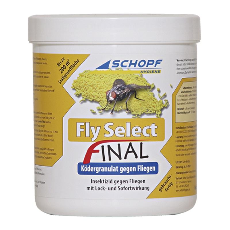 Granulovaný koncentrát insekticid Schopf Fly select FINAL 400 g na hubení much