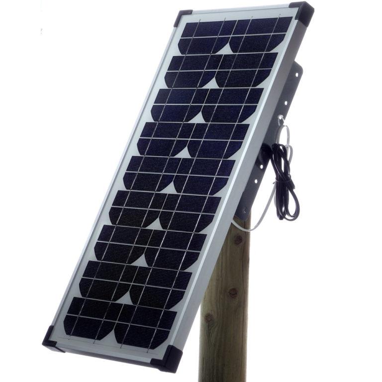 Solární panel OLLI 20W pro bateriové zdroje na elektrický ohradník