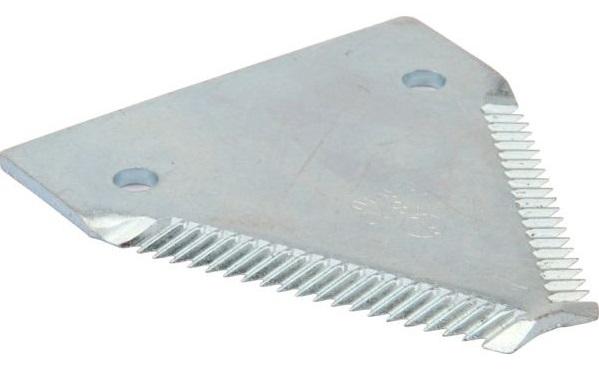 Žabka, žací nůž horní ozubení vhodný pro Laverda žací lišta série E, L, balení 25 ks