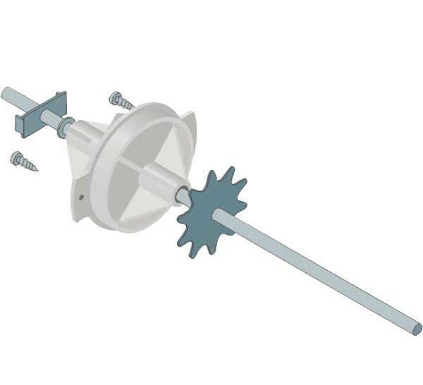 Rolly Toys - zadní náprava s pastorkem průměr hřídele 12 mm