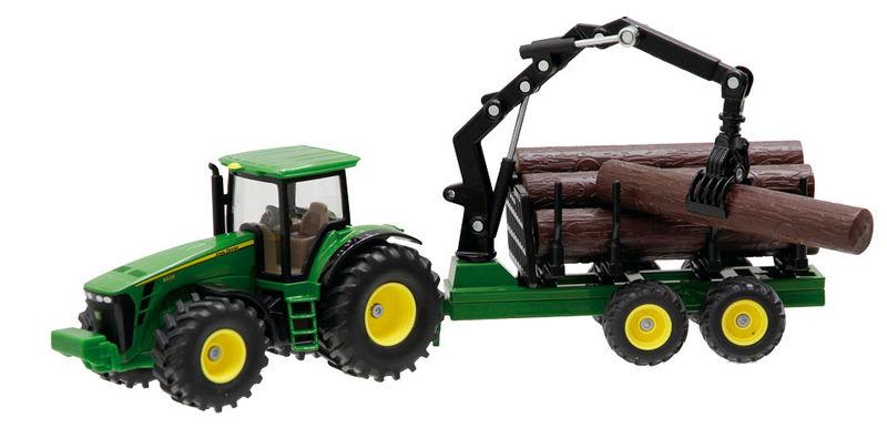 Siku – traktor John Deere 8430 s lesnickým přívěsem 1:50