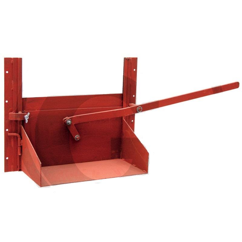 Obilné šoupátko 370 x 500 mm se skluznicí a ovládací pákou