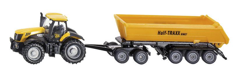 Siku - traktor JCB 8250 s přívěsem 1:87