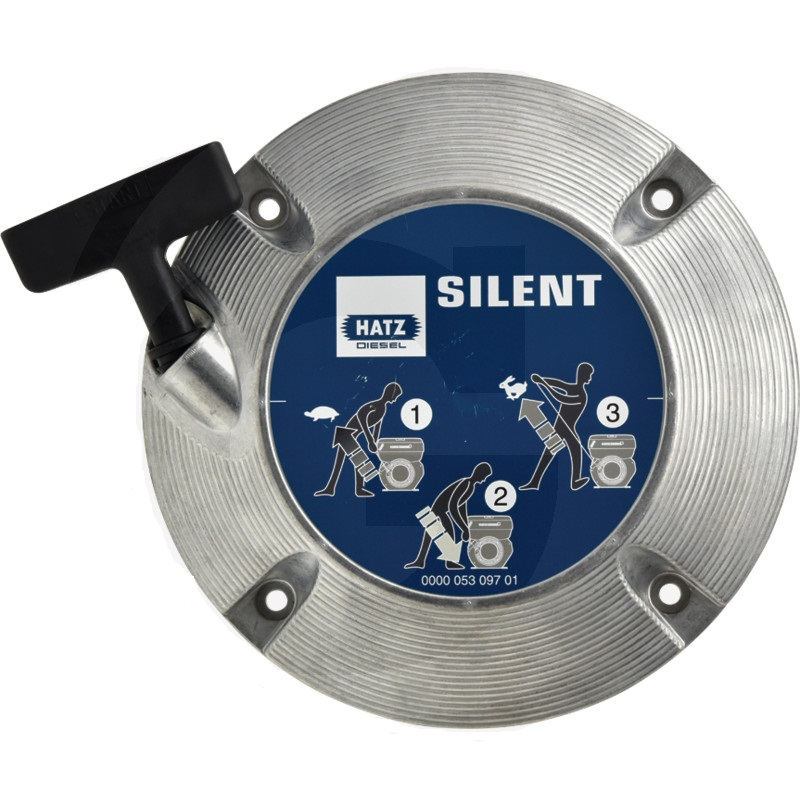 Reverzní startér SILENT vhodný pro stavební stroje s motory Hatz 1 B20, 1 B30, 1 B40