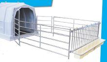 Ohrádka pro boudy pro hromadný odchov telat La GÉE bez čelní stěny s fixací hlav