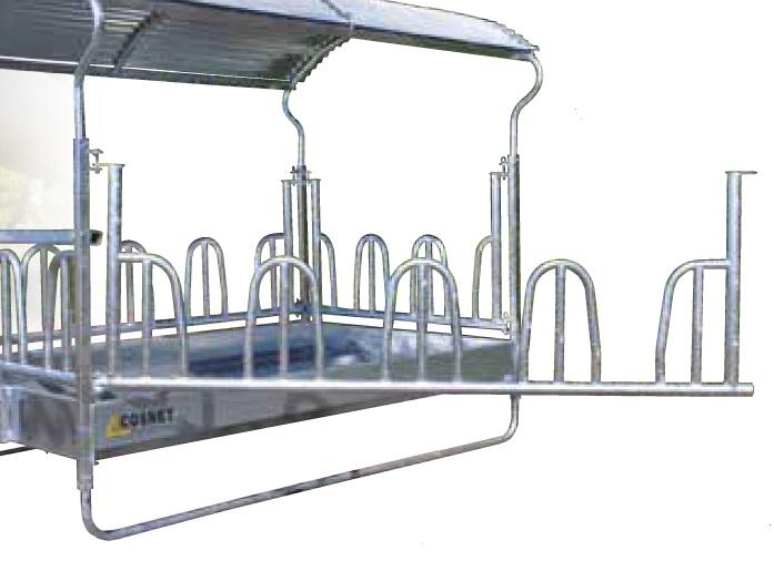Náhradní panel s krmnou zábranou pro palisádový krmelec Cosnet RDTF délka 2,84 m 4 hlavy