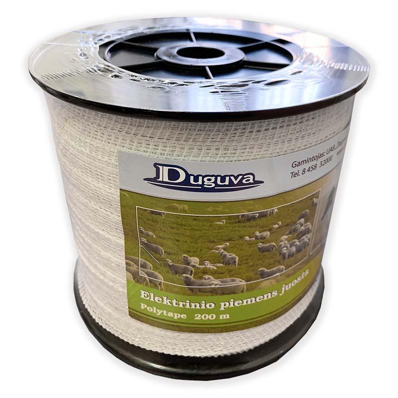 Bílá ohradníková páska Econom 20 mm/200 m odpor 9 Ohm/m