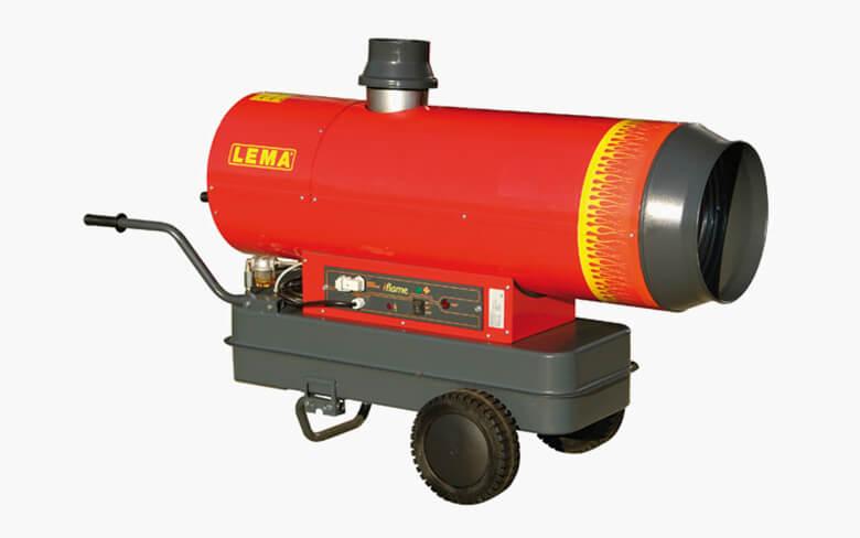 Venkovní naftové topidlo LEMA iFLAME 50, mobilní topné dělo s nepřímým spalováním, 49kW