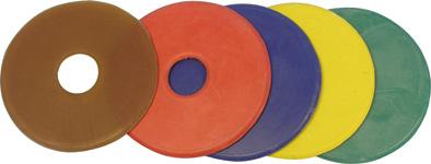 Kroužky na udidlo gumové bílé velikost 9 cm pár